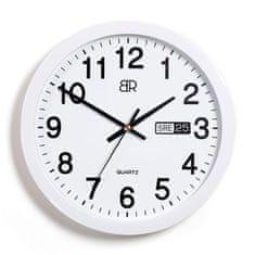 BR zidni sat s datumom, bijeli