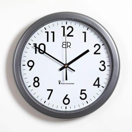 BR radijsko vodena stenska ura, antracitna