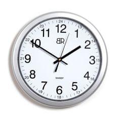 BR zidni sat, 30 cm, srebrni