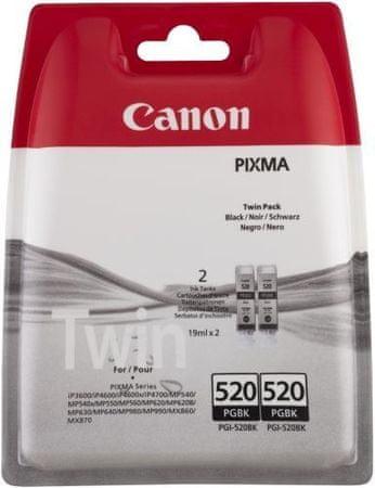 Canon wkład PGI-520BK, czarny 2-pack