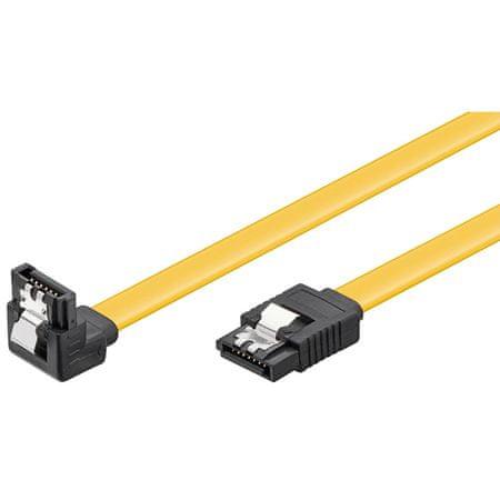 Goobay SATA kabel 6GBits 0,7 m s kutnim priključkom
