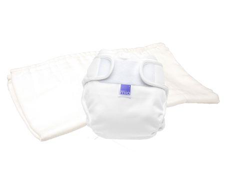 Bambinomio Plienkový testovací balíček NEW biely, veľ. 1 (do 9 kg)