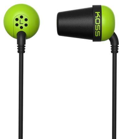 KOSS The Plug Fülhallgató, Zöld