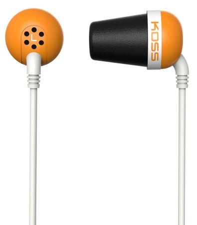 KOSS The Plug Fülhallgató, Narancs