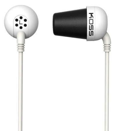 KOSS The Plug Fülhallgató, Fehér