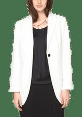 s.Oliver Dámské sako pro plnoštíhlé, bílá, vel. 42 - použité
