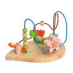 EverEarth lesena zabavna igra za urjenje motorike, rožice in medvedki