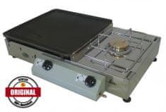 Gorenc namizni plinski žar s kuhalnikom Tradicija 65K Siv, LTŽ plošča