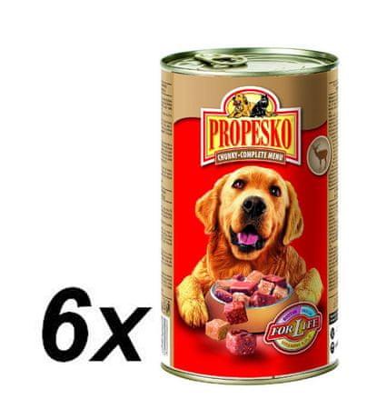 Propesko Kutyakonzerv, szarvas és baromfi, 6×1240g