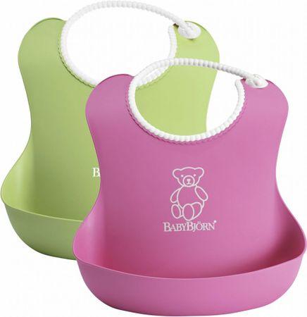 Babybjörn 2 śliniaki , Różowy/Zielony
