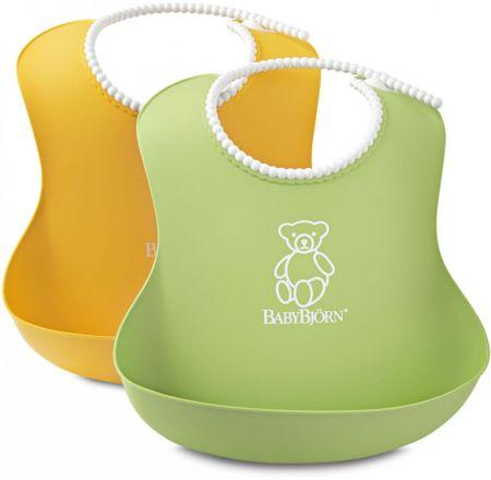 Babybjörn Bryndáky měkké 2 ks, zelený/žlutý