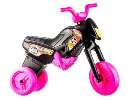 Yupee Futóbicikli Enduro Kismotor, Nagy, Fekete-Rózsaszín