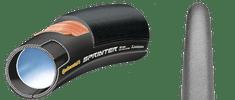 "Continental cestna pnevmatika Tubular Sprinter, 28"" x 22 mm, črna"