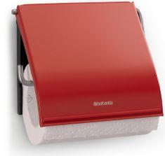 Brabantia Uchwyt na papier toaletowy Classic, czerwony