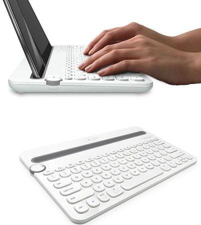 Logitech Bluetooth Multi-Device Keyboard K480 US, biela (920-006367)