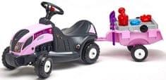 Falk Traktor jeździk Princess z przyczepą 3056E + zestaw zabawek do piasku