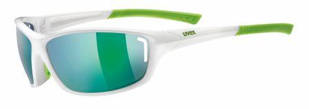 Uvex okulary przeciwsłoneczne Sportstyle 210 White Green/Green (8716)