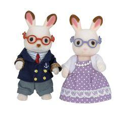 Sylvanian Families Babcia i dziadek czekoladowe króliki 5190