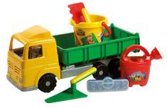 Androni Malý staviteľ nákladiak s formičkami a náradím