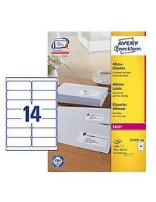 Avery Zweckform etikete L7163-100, 99.1 x 38.1 mm, bele