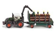 SIKU Farmer: traktor z lesenim tovorom, 1:87