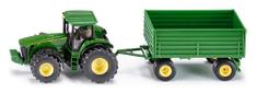 SIKU Farmer JohnDeere Traktor Utánfutóval1:50