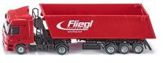 SIKU Kamión s vyklápacím vlekom červený, 1:50