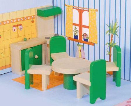 "Woody Meble do domu dla lalek ""Kuchnia z jadalnią"""