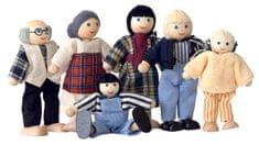 Woody lutke za v hišo, družina, 6 kosov