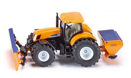 SIKU model traktora z przednim pługiem oraz solarką