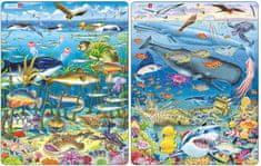 LARSEN Puzzle set Zvieratá v mori a Veľryba, žralok a Titanic MAXI