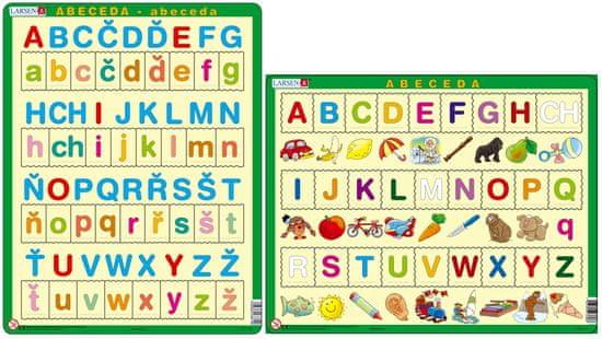 LARSEN Česká ABECEDA s obrázkami puzzle set MAXI