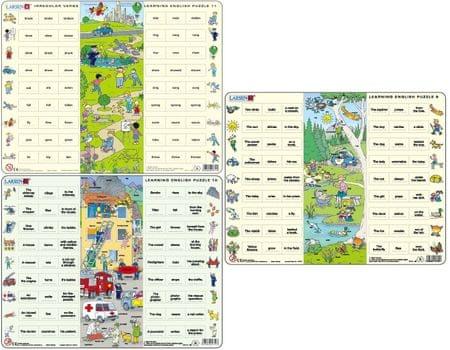 "LARSEN Maxi puzzle 54 db-os ""Tanuljunk angolul!"""