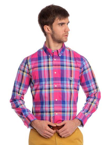 Chaps pánská košile s klasickým límečkem L vícebarevná