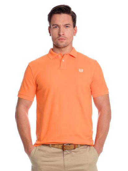 Chaps pánská polokošile s logem značky M oranžová