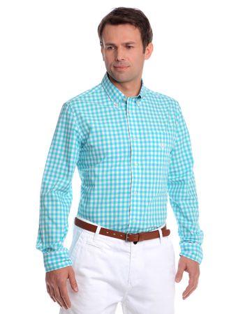Chaps pánská košile s náprsní kapsičkou L tyrkysová