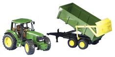 Bruder traktor John Deere s prikolicom, 67 cm