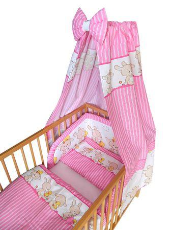 COSING 4-delni set Comfort posteljnina Zajčki, roza