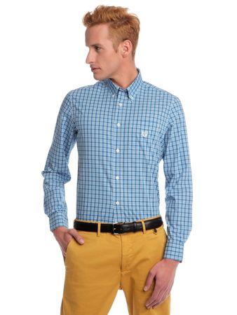 Chaps kostičkovaná pánská košile M modrá