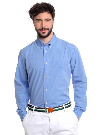 Chaps pánská košile s náprsní kapsičkou M modrá