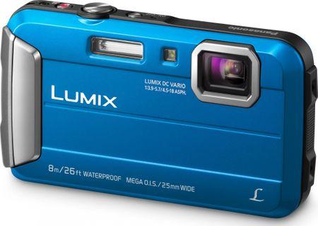 Panasonic digitalni fotoaparat Lumix DMC-FT30, podvodni, moder