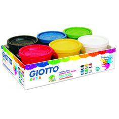Giotto prstne barve Dita, 6 × 200 ml