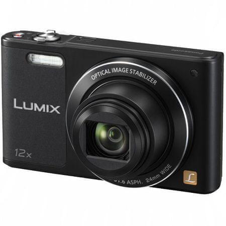 Panasonic digitalni fotoaparat Lumix DMC SZ10, črn