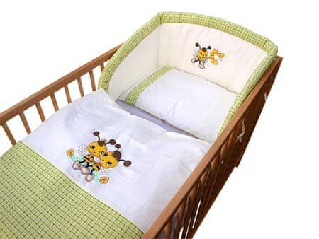 COSING 3-delni set posteljnine De Luxe Čebela, zelena