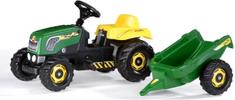 Rolly Toys traktor s prikolico na pedala, zelen