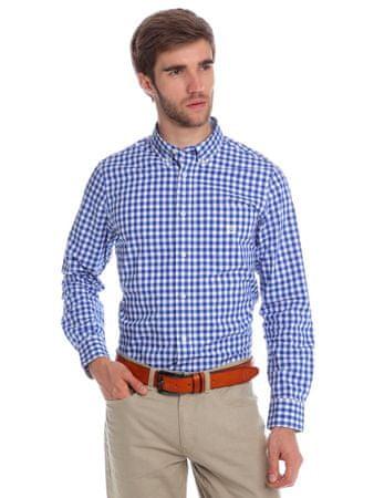 Chaps kostičkovaná pánská košile s dlouhým rukávem L modrá