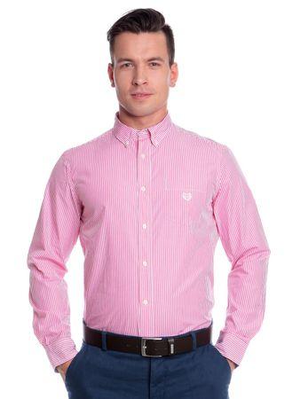Chaps pánská košile s kapsičkou na hrudi M růžová