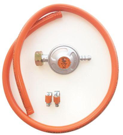 MAKERS cev za plin, 1 m, regulator, 2 objemki