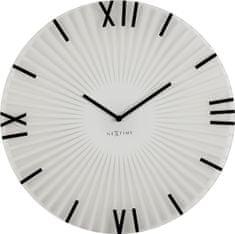 NEXTIME stenska ura s premerom 43 cm, steklena
