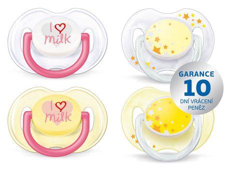 """Philips Avent """"I love milk"""" Cumi, 0-6 hónap, BPA mentes, 2x2"""